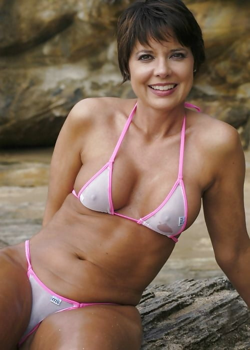 milf with see through bikini