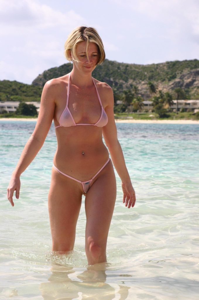 milf in see through bikini