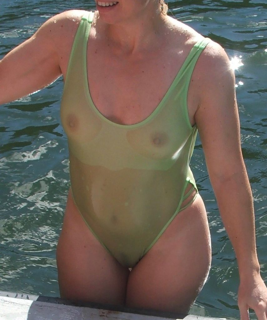 milf amateur in see through one piece