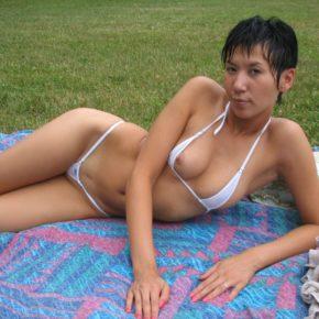 asian milf falling out of bikini
