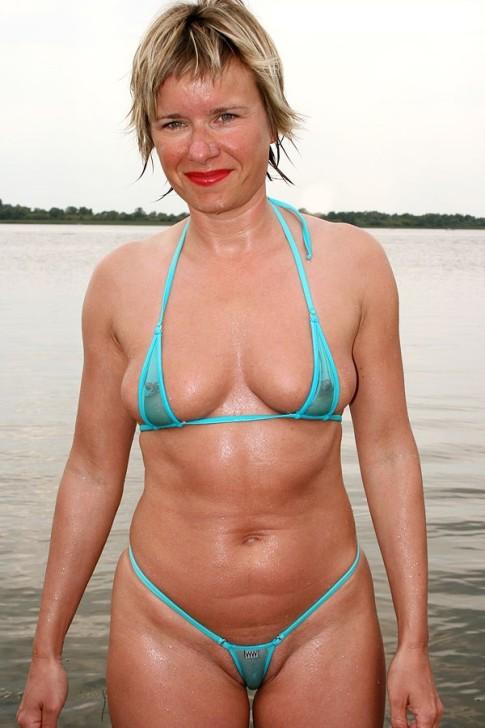 milf in a skimpy bikini