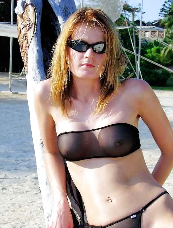 mom in a sheer bikini