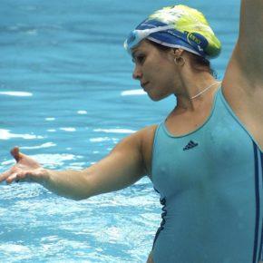 see through bikini at water aerobics