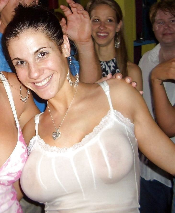 see through tank top in public